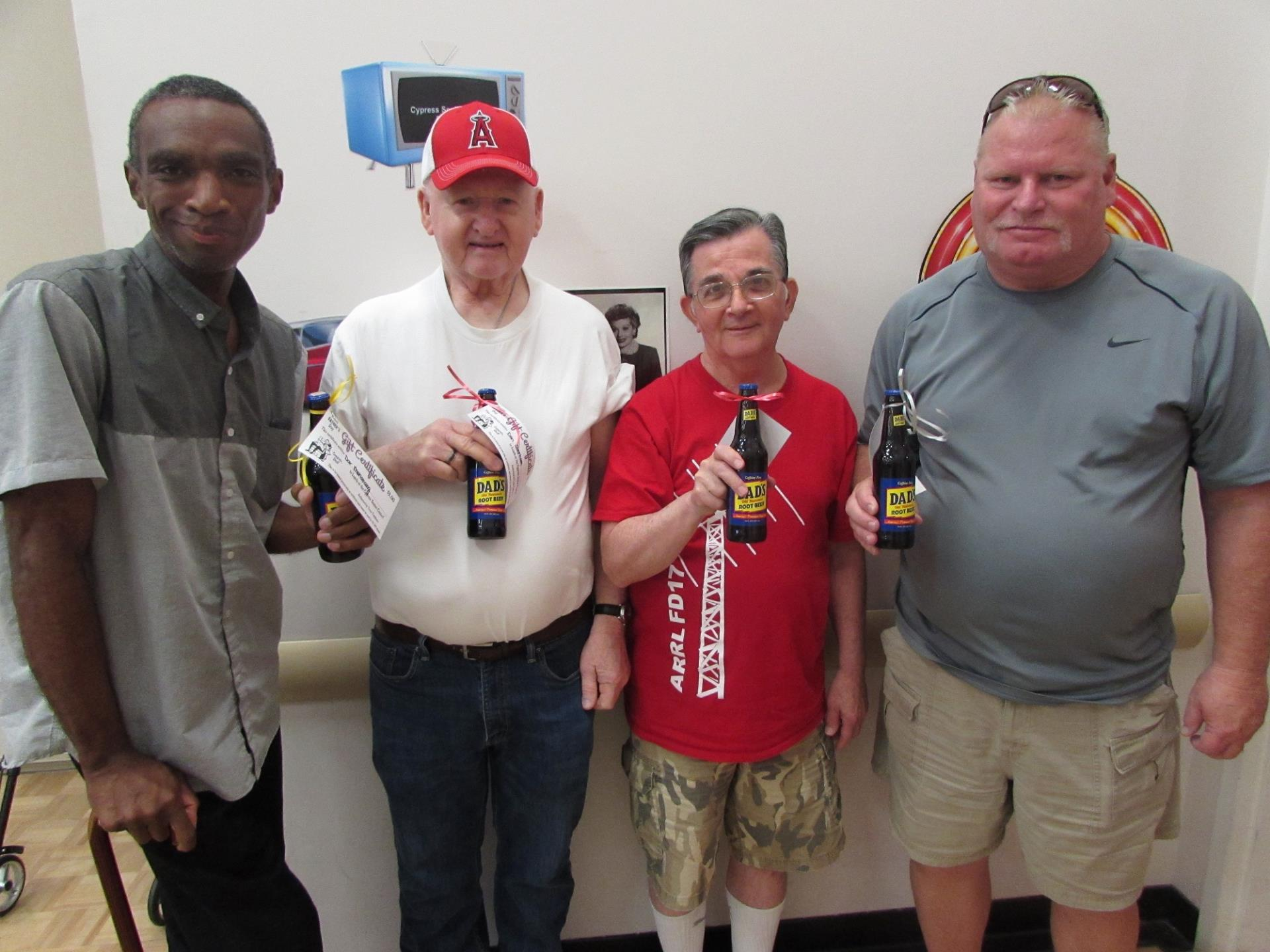 Senior Center fathers with father's day gifts