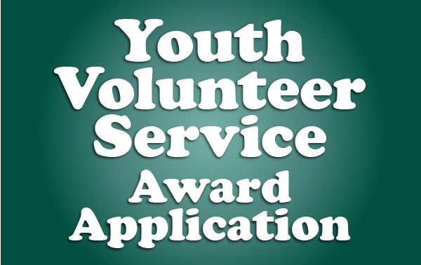 Youth Volunteer Service Award Application