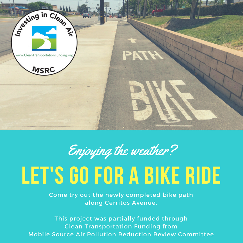 Come try out the newly completed bike path along Cerritos Avenue