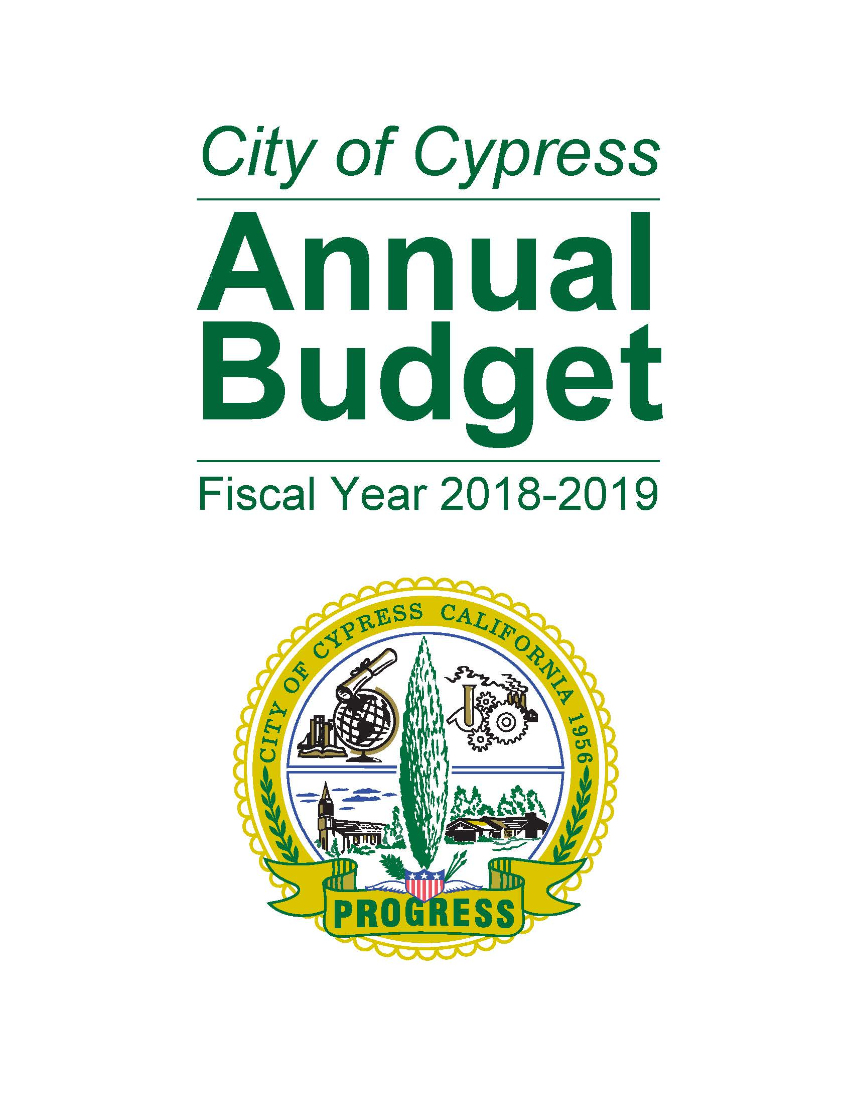 18-19 Annual Budget Cover